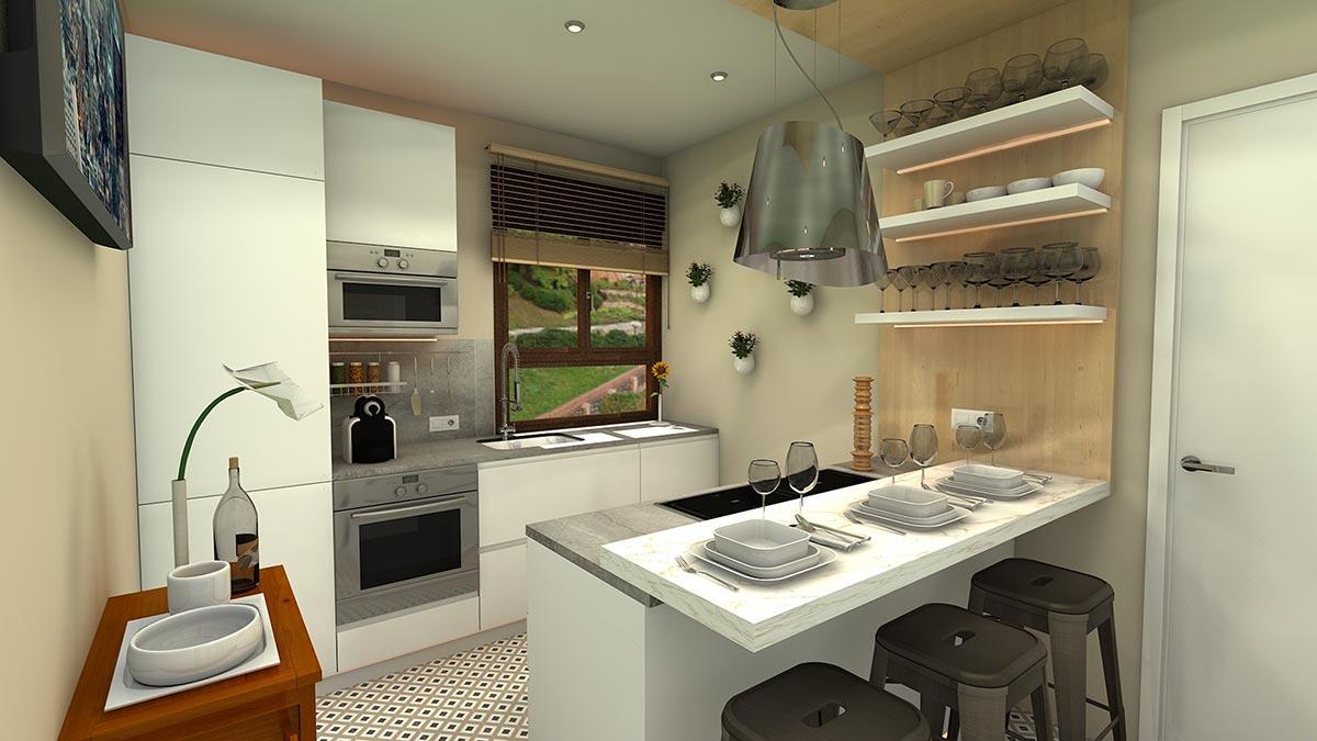 Ispirazioni di cucine con penisola moderna.