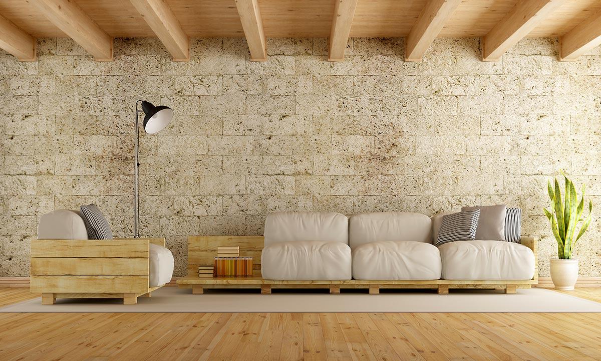 Decorazione pareti soggiorno moderno.