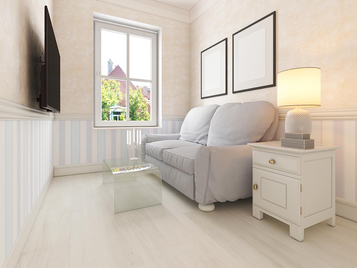 Arredamento di un piccolo soggiorno moderno.