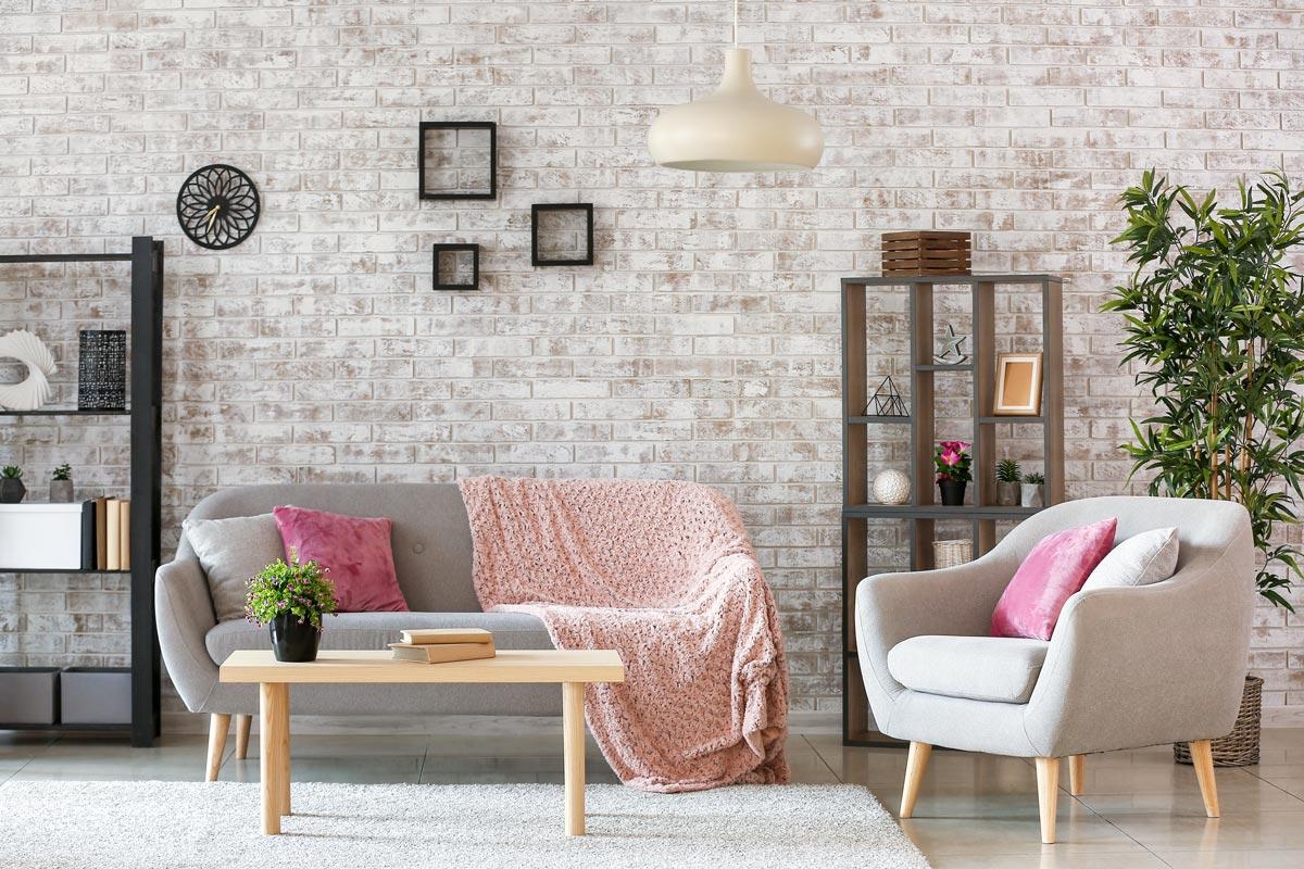 Decorare pareti soggiorni moderni.