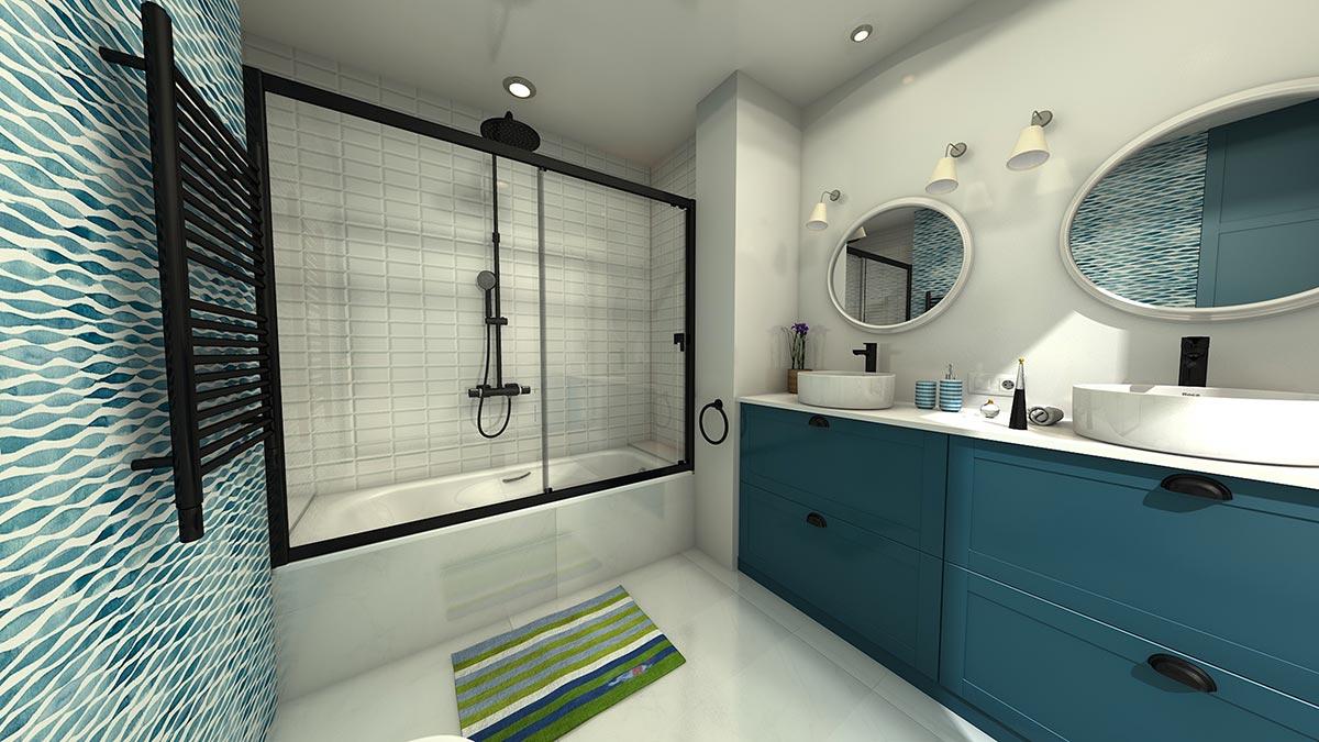 Arredamento bagni moderni.