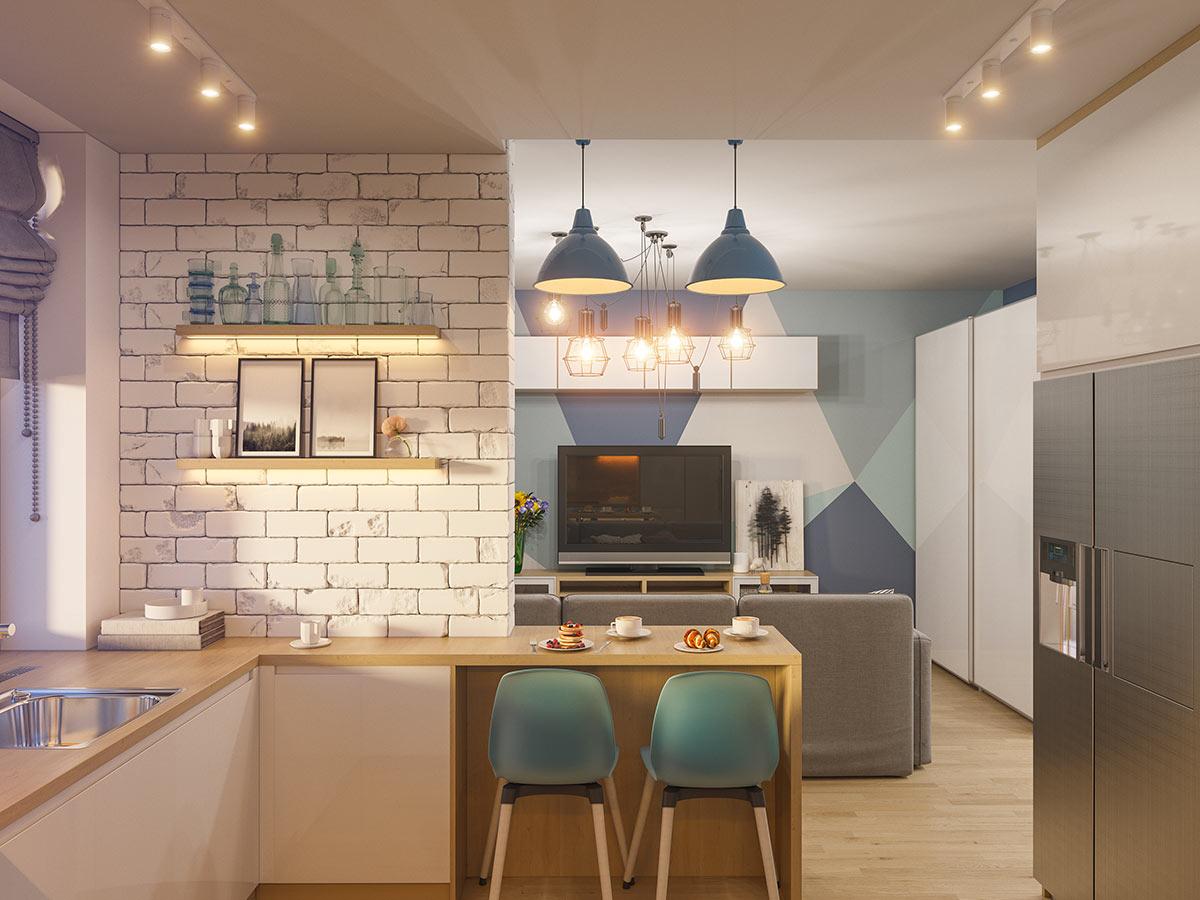 Cucina moderna ad angolo, idee e progettazione.