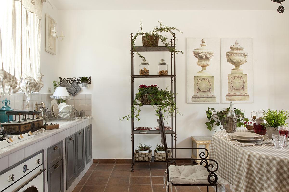 Cucine moderne in muratura stile country.