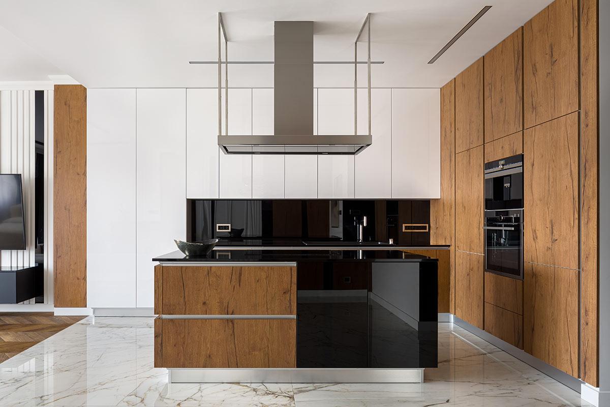 Cucine open space moderno.