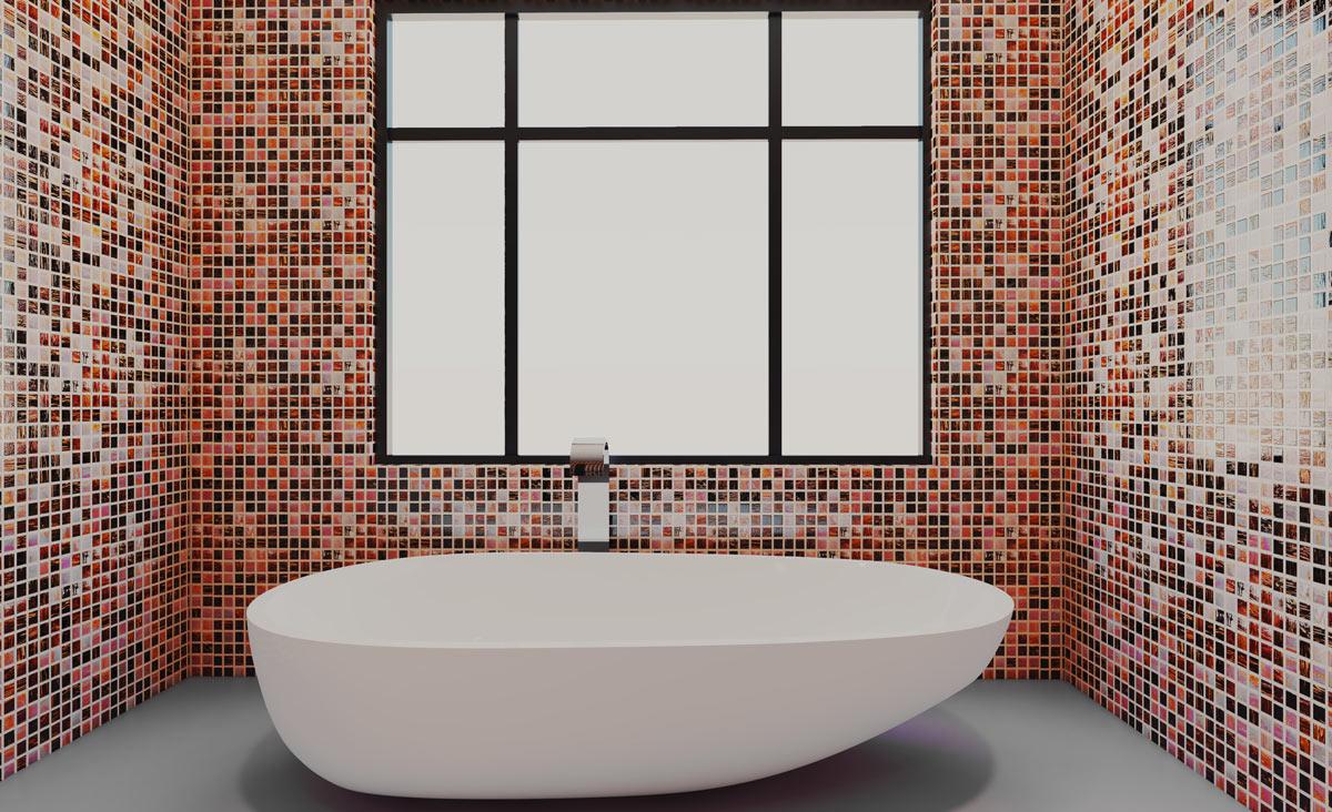 Piastrelle Bagno Mosaico Viola piastrelle bagno: tipologie, costi, e idee per rivestire il