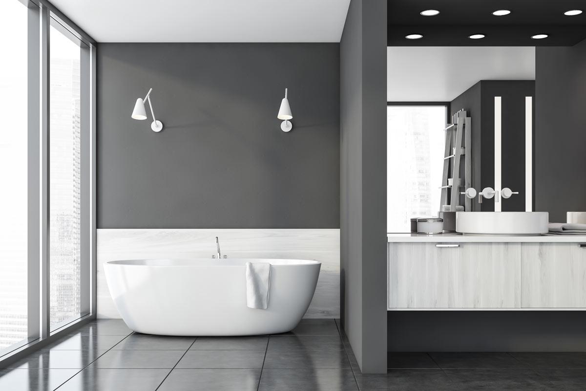 Rivestimenti Bagni Moderni Grigio 20 ispirazioni per realizzare un bagno grigio moderno