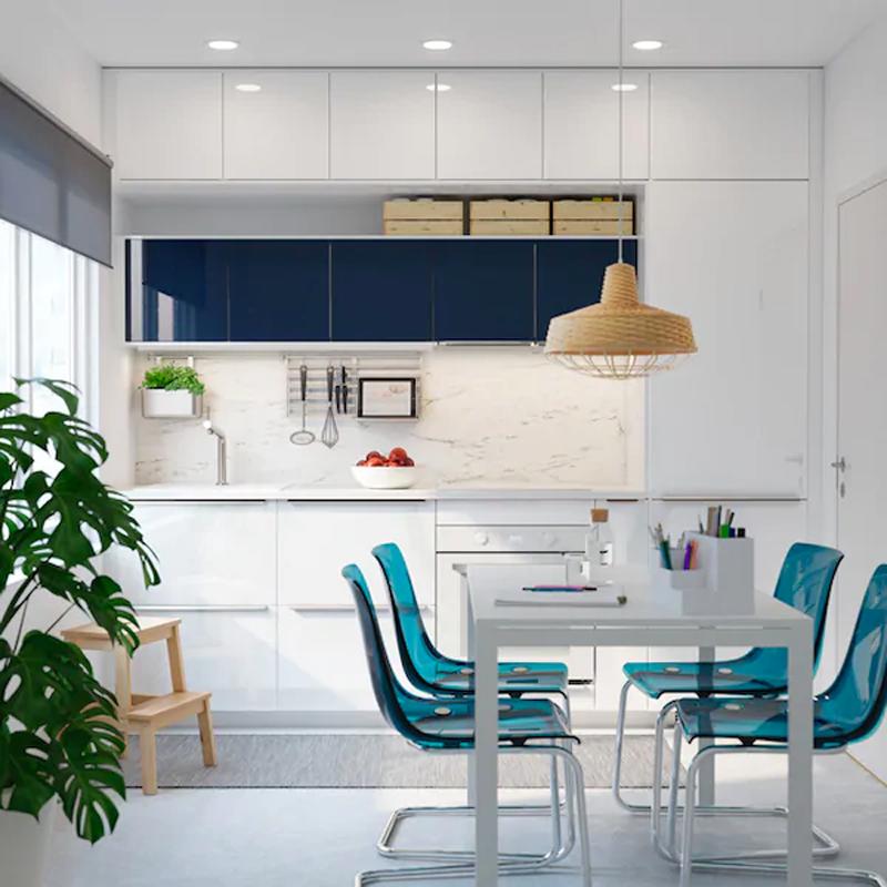 Cucine IKEA RINGHULT bianco lucido.