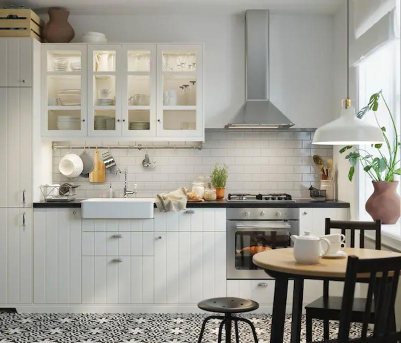 La cucina HITTARP bianco di IKEA.