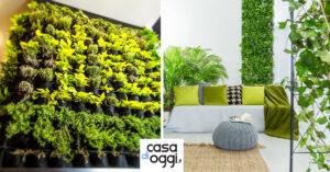 idee per un giardino verticale di design in casa