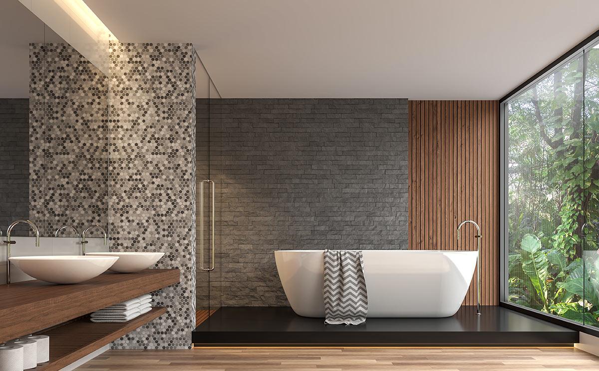 Pannelli Decorativi Per Camerette rivestimenti in pietra: idee design per interni ed esterni