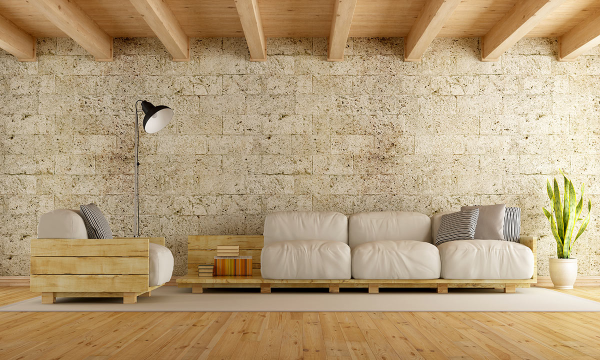 Parete In Pietra Soggiorno rivestimenti in pietra: idee design per interni ed esterni