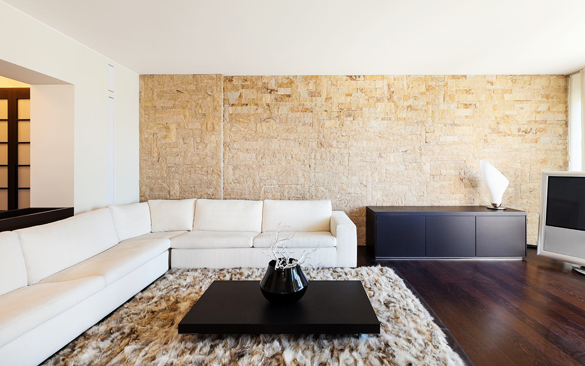 Muretto In Pietra Interno rivestimenti in pietra: idee design per interni ed esterni