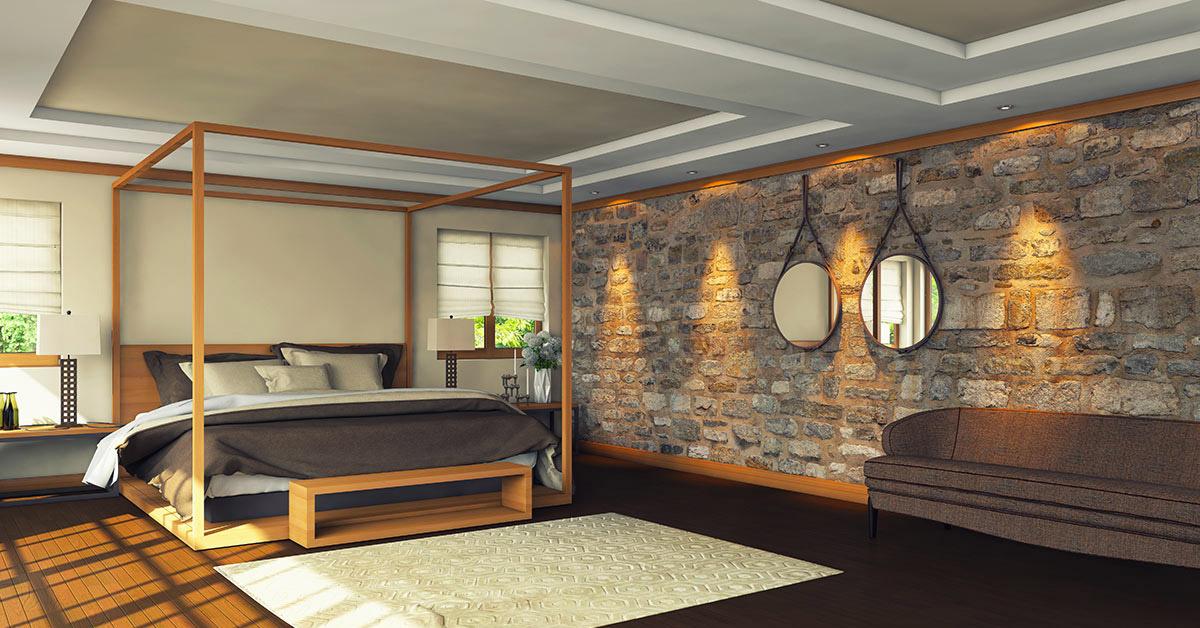 idee di interni con rivestimenti in pietra.