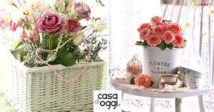 composizioni floreali shabby chic in vaso per la primavera
