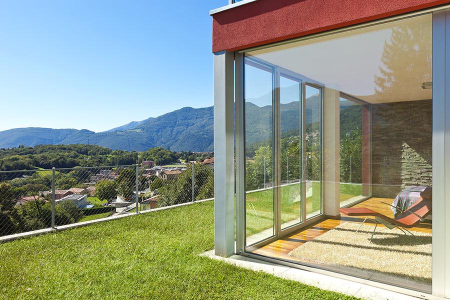 Splendida veranda con zona relax.