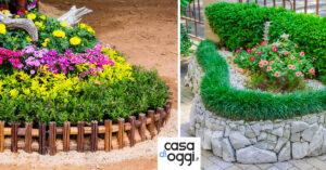 idee per realizzare un bella aiuola in giardino