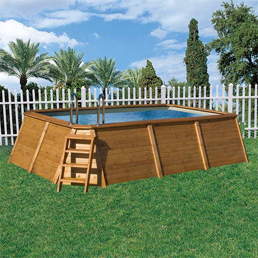 Piscine Da Esterno Rivestite In Legno piscine fuori terra da giardino: una soluzione veloce per
