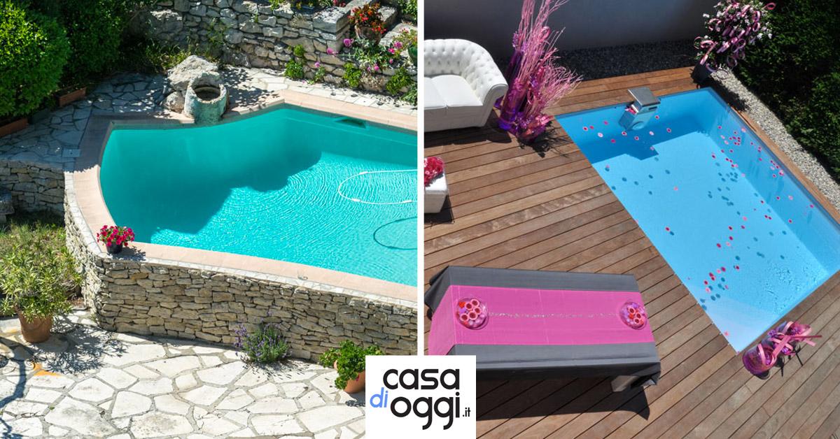 collocare piscina sul terrazzo o sfruttando dislivello giardino
