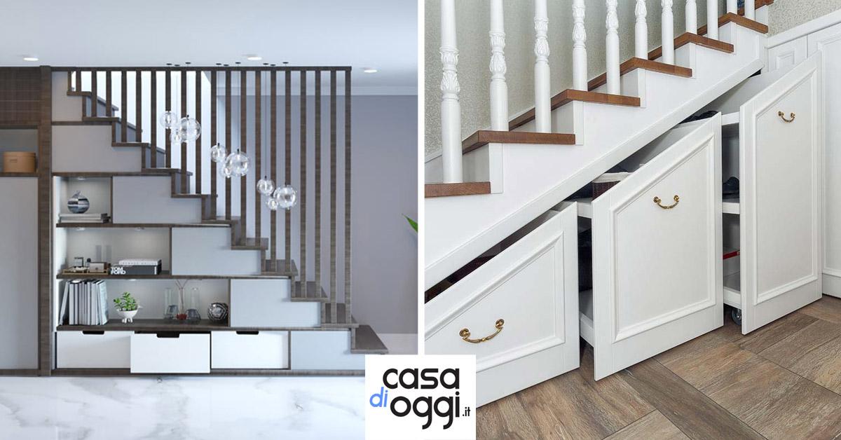 idee per utilizzare lo spazio sotto le scale.