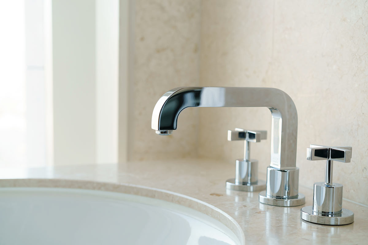 La rubinetteria per il bagno moderno.