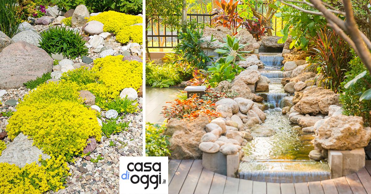 idee e costi per un giardino roccioso da sogno
