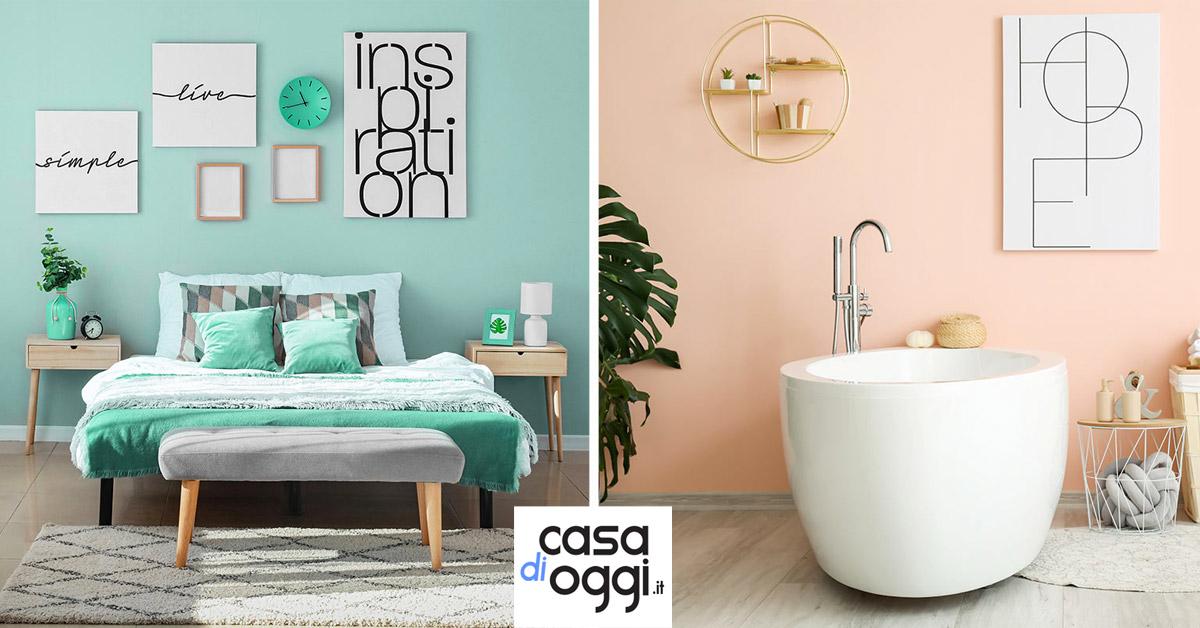 Tinteggiare le pareti di casa con colori pastello