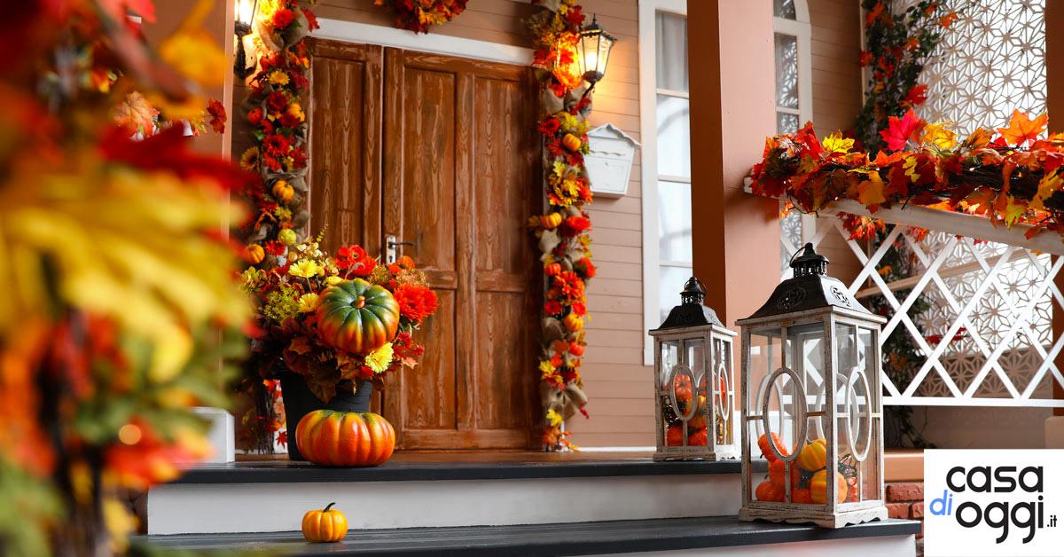 Come arredare e decorare il portico in autunno