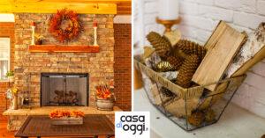 Come decorare il camino in autunno