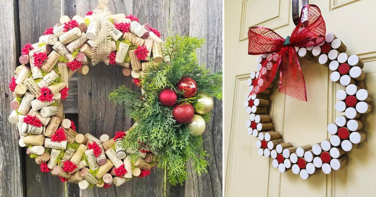 Immagini Di Ghirlande Di Natale.Ghirlande Con Tappi Di Sughero 9 Splendide Idee Fai Da Te