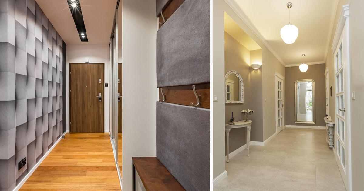 arredamento ingresso stretto stile moderno