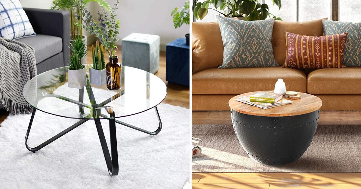 tavolini rotondi da salotto stile moderno