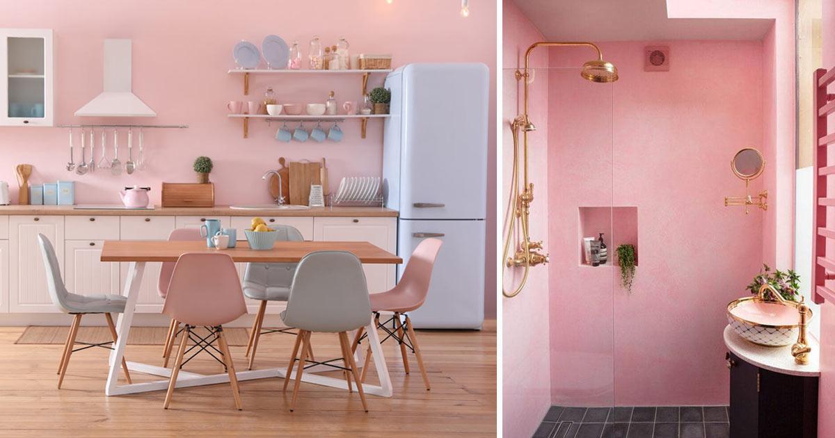 arredamento casa color rosa