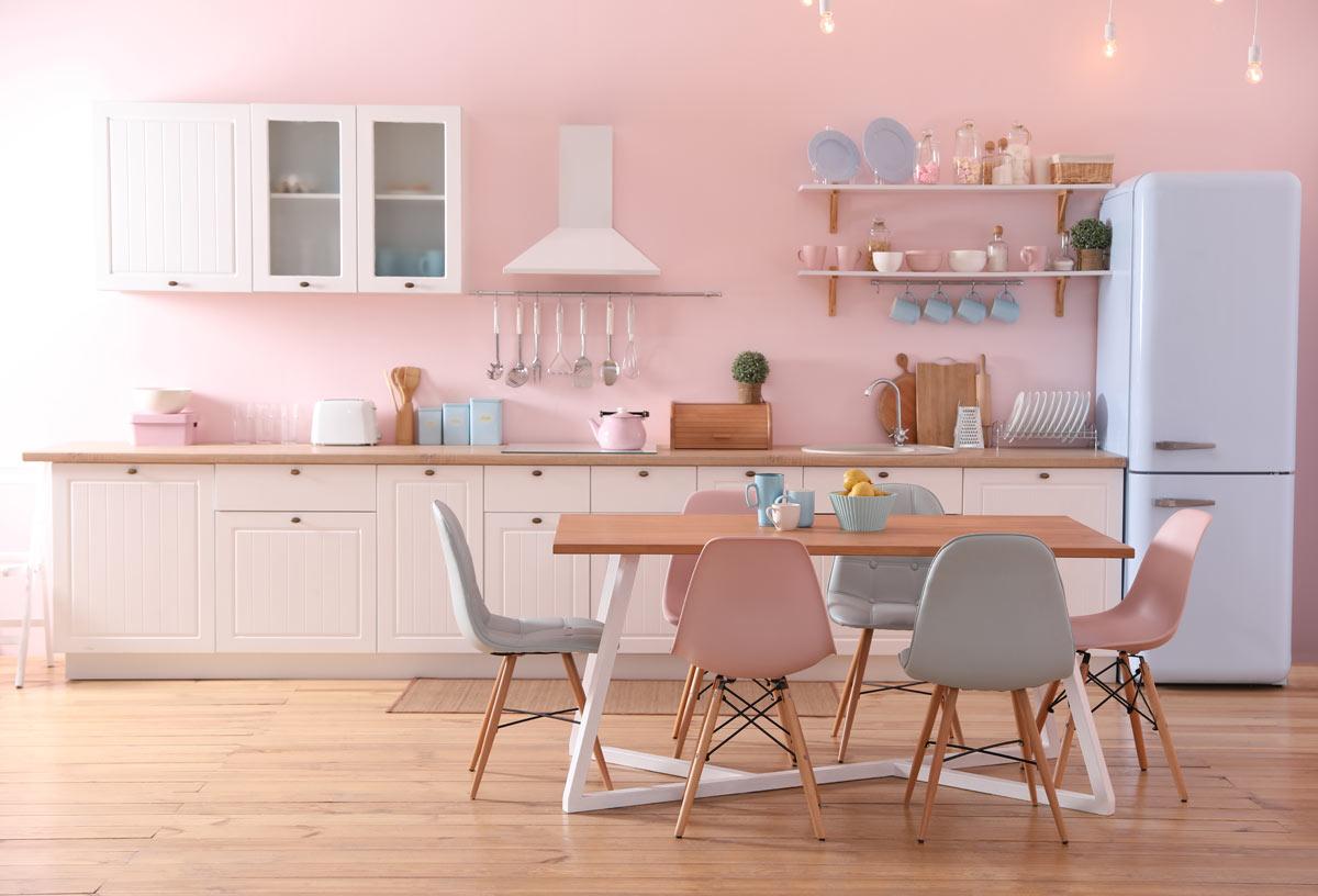 cucina color rosa
