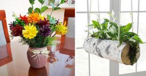decorazioni primaverili fai da te con elementi naturali