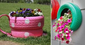 riciclo pneumatici per giardino