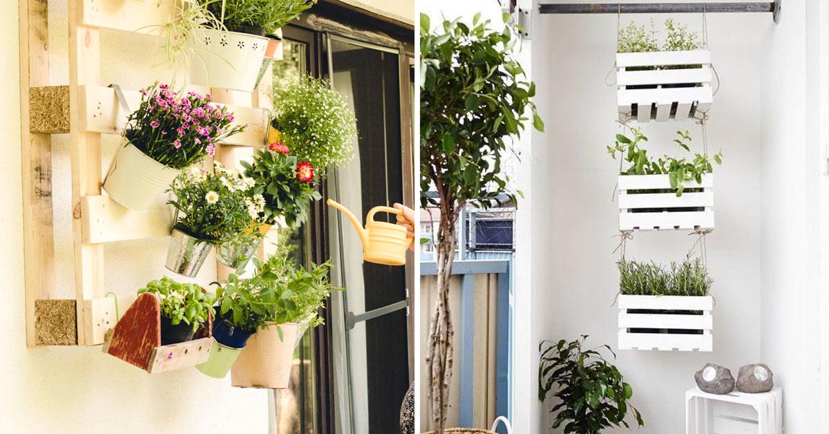 Arredare balcone con riciclo creativo.