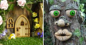 Decorare il giardino in modo creativo.
