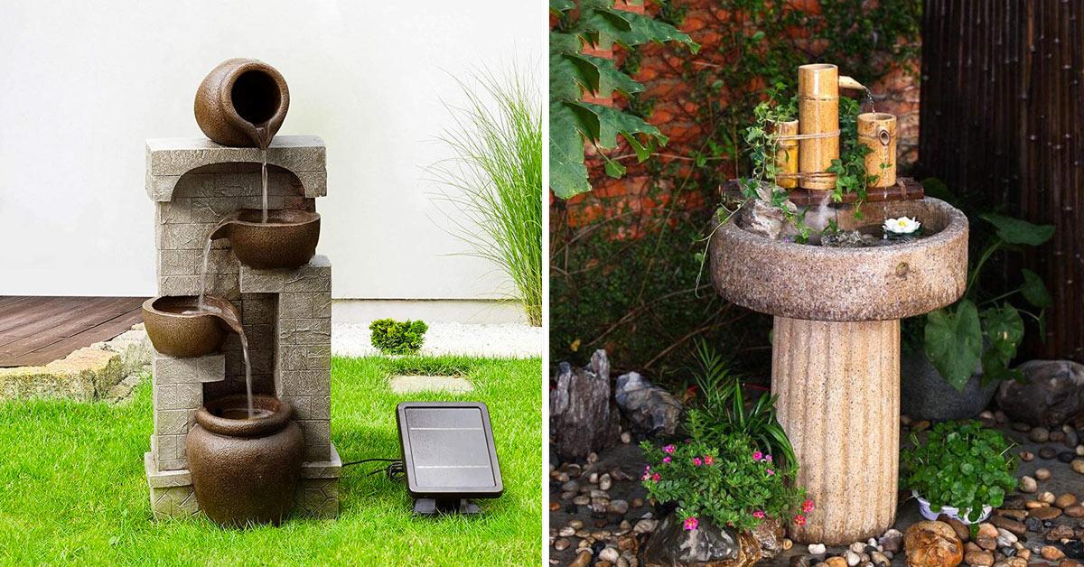 fontana in pietra in giardino
