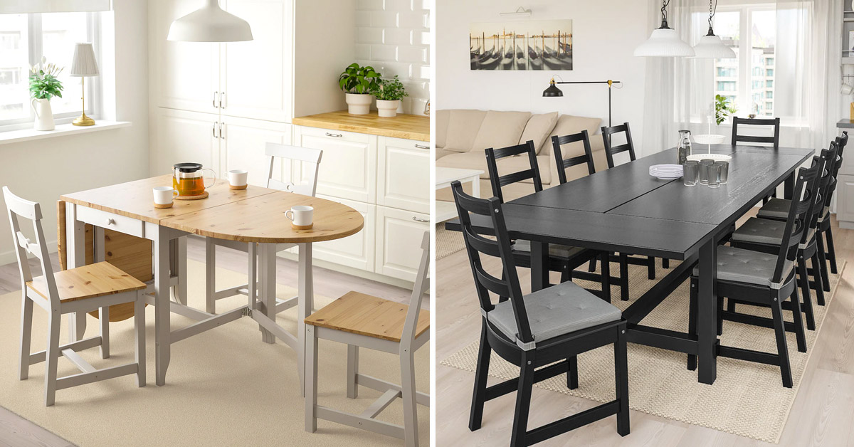Tavoli Allungabili Ikea Quadrati Rotondi In Vetro Legno 10 Idee