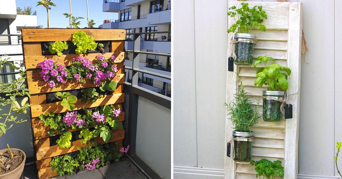 Fioriera verticale balcone.