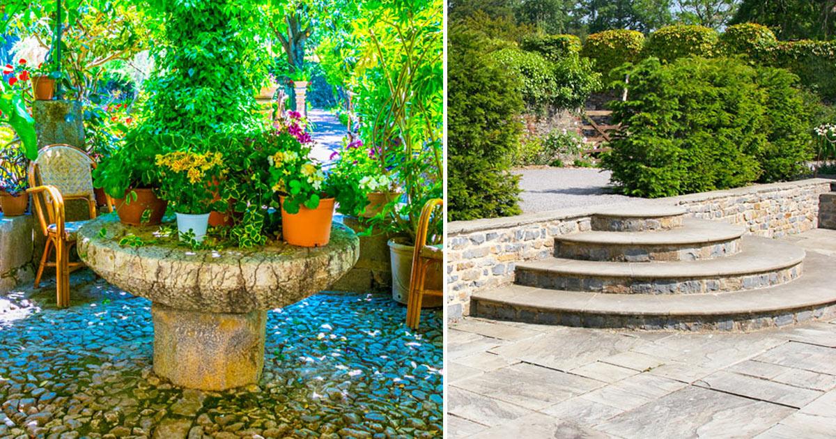 arredare giardino con pietra