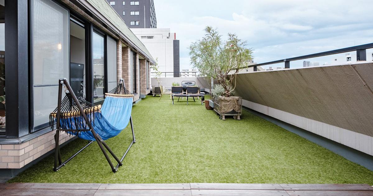 erba sintetica per terrazzo